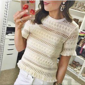 U0 DELIGHTFUL Crochet & Fringe Top